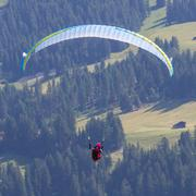 Amateur paraglider Stock Photos