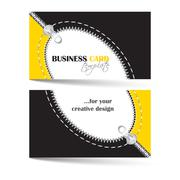 Stock Illustration of Creative business card template with zip arc