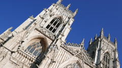 York minster view Stock Footage