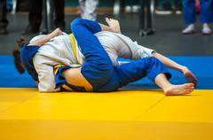 Girls involved in Judo - stock photo