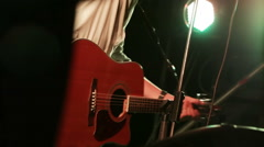 Acoustic guitar at concert - stock footage