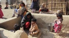 Punjabi village Stock Footage