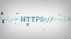 Binary Keywords HTTPS White Stock Footage