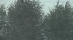 Snowing Hard With Strong Winds as Prairie Blizzard Starts Stock Footage