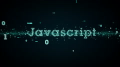 Binary Keywords Javascript Blue Stock Footage