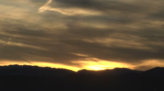Time Lapse Peaceful Golden Sunset over Rockies Stock Footage