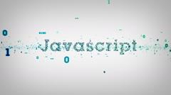 Binary Keywords Javascript White Stock Footage