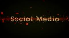 Binary Keywords Social Media Black Stock Footage