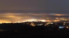 Phantasmagorical Fog Over Rapid City Stock Footage