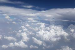 Cloud on blue sky in the daytime. - stock photo