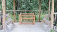 Pavilion Park Bench  Gazebo Stock Footage