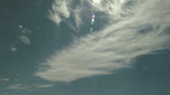Time Lapse of Feathery Cirrus Clouds Riding the Jet Stream Winds Stock Footage
