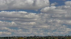 4K Time Lapse of a Flock of  Stratocumulus Clouds - stock footage
