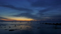4K video time-lapse of sunset view at Tioman Island, Malaysia. ultra HD Stock Footage