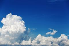 Stock Photo of Cloud on blue sky in the daytime.