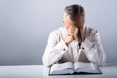 Concept for religion and prayer - stock photo