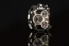 unusual watches. several alternatives dials - stock photo