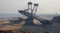 Giant Bucket Wheel Excavator - Opencast mining - Time lapse Stock Footage
