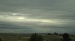 Stratocumulus Asperitas Clouds Stock Footage