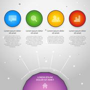 Stock Illustration of Vector colorful info graphic elements