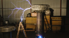 Attack of the Tesla Coil Stock Footage