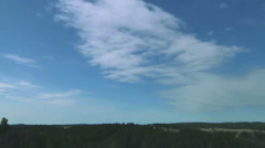 Time Lapse of Classic Mackerel Sky Altocumulus Clouds over Plains Stock Footage