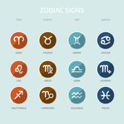Zodiac signs Stock Illustration