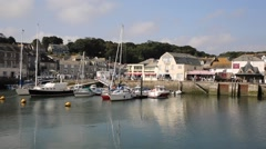 British harbour south west England Padstow North Cornwall UK Stock Footage