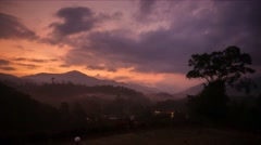 4K Video Time Lapse. Sunrise View From Cherengin Hills Stock Footage