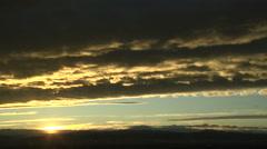 Orange Altocumulus Cloud Formations At Sunset Stock Footage