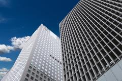skyscrapers in a good weather. - stock photo