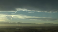 Banner Cloud and Contrails - stock footage