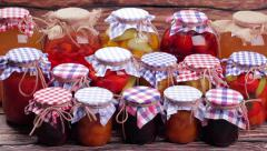 Storing of canned foods. Stock Footage