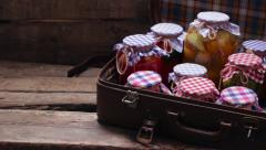 Preservation in an old suitcase. Stock Footage