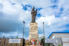 Mary star of the sea monument Stock Photos