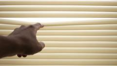 Close venetian blinds Stock Footage
