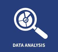 Magnifying Glass Data Analysis Stock Illustration