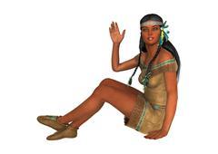 Stock Illustration of Native American Woman
