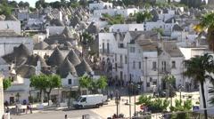 Alberobello - Italy - town Stock Footage