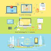 Concept Smart Innovation Technology Stock Illustration