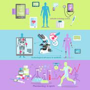 Medical Technology and Pharmacology Research Stock Illustration
