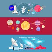 Concept Space Exploration Cosmic Industry Stock Illustration