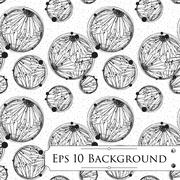 Background with Intricate Bubbles Stock Illustration