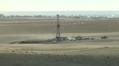 Fugitive Dust from Drilling Operation Stock Footage