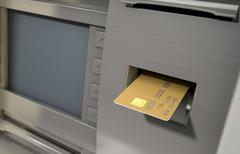 Atm Facade And Card Insert Stock Illustration