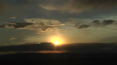 Volcanic Clouds at Sunset Stock Footage