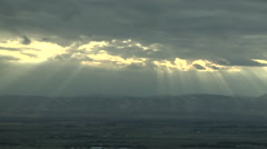 Time Lapse Crespuscular Rays Colorado Front Range - stock footage
