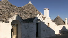 Italy  - Apulia - Alberobello - Trulli Stock Footage