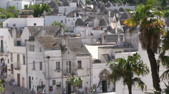 Alberobello - trulli - tourism Stock Footage