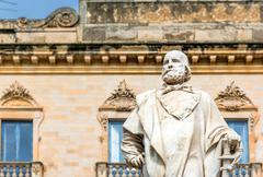 Monument of italian hero Giuseppe Garibaldi Stock Photos